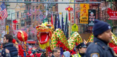 Khu phố người Hoa ở Mỹ thất thu dịp Tết Nguyên đán 2021
