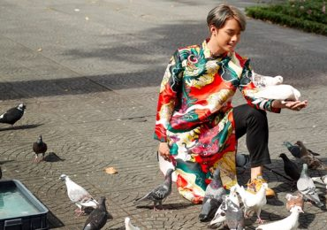 Hot TikToker Hải Đăng Doo gây thương nhớ với áo dài