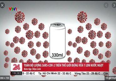 Một lon nước ngọt 330 ml có thể chứa hết SARS-CoV-2 trên thế giới
